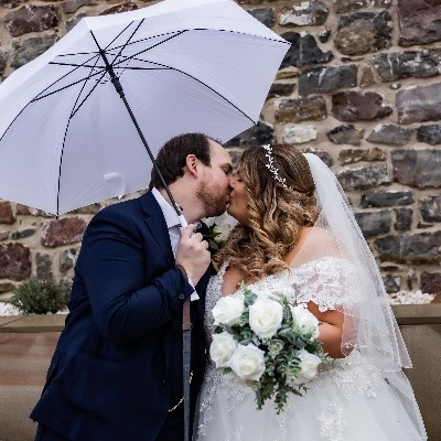Chelsea and Huw tied the knot in a romantic ceremony at Llanerch Vineyard