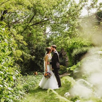 Sara and Ollie said their vows at their dream wedding venue, Usk Castle