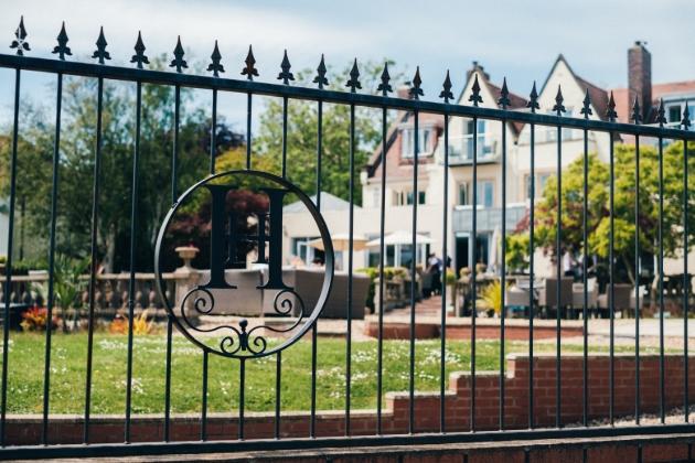 Bespoke iron railings outside Holm House Hotel, Glamorgan