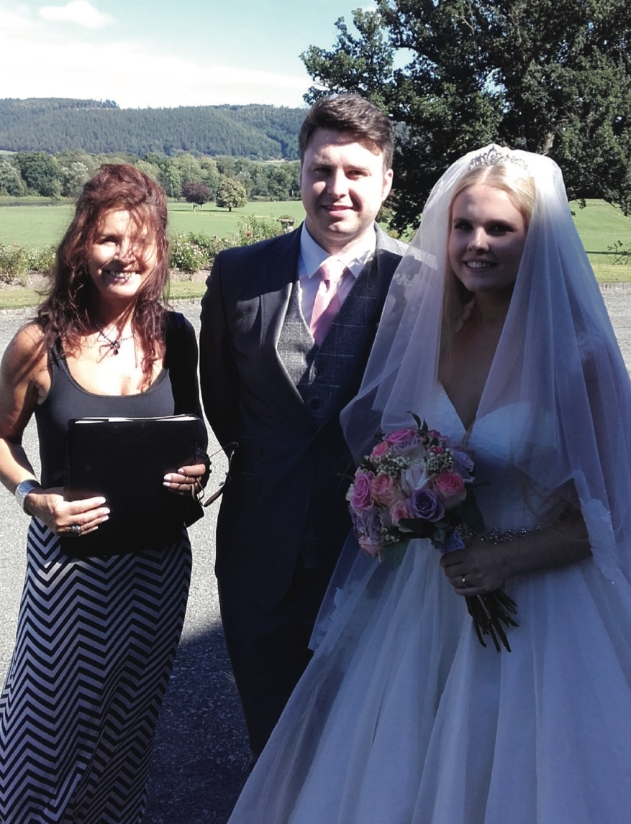 Local celebrant, Lynda Williams is helping couples personalise their wedding service