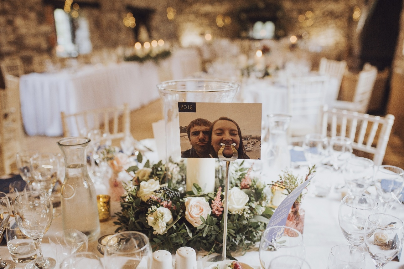 Photo table decorations