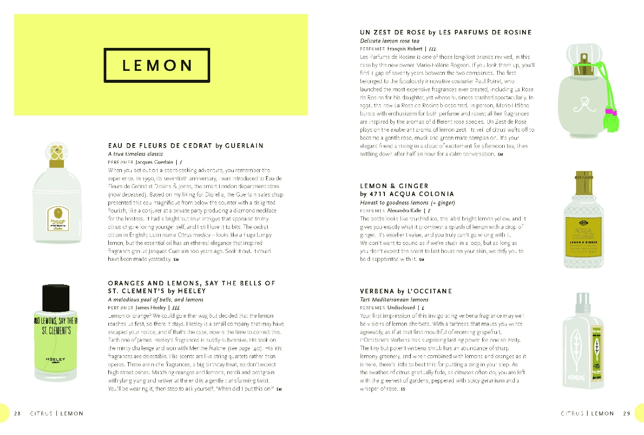 Lemon themed page from The Perfume companion